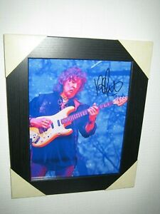 Ritchie Blackmore Excellent Hand Signed Photograph {8x10} Framed With CoA
