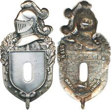 Plateau Insigne Gendarmerie, argenté, guilloché, Drago Marne La Vallée 696(7693)