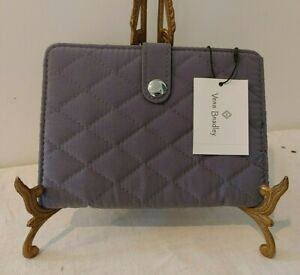 Vera Bradley Travel Passport Wallet Quilted Snap Close Carbon Gray NWT MSRP $54