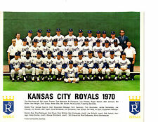 1970 KANSAS CITY ROYALS 8X10 TEAM PHOTO DRAGO PINIELLA MISSOURI  BASEBALL