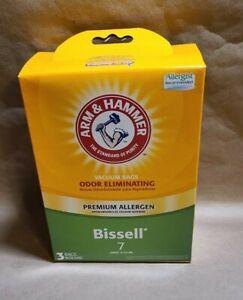 Arm & Hammer Vacuum Bags Bissell Style 7 Odor Eliminating 2 bags NIB 62616G