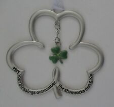 w May your blessings outnumber the shamrocks that grow irish Shamrock Ornament