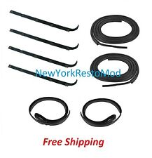 87-96 Bronco FORD F-Series Pickup Truck Door Window Sweep Weatherstrip Seal NEW
