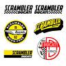 Adesivi Ducati scrambler start sticker vintage Decal auto moto print pvc 6 pz.