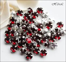 Red Crystal Round Jewellery Making Beads