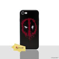 """Marvel Coque/Étui/Case Pour Apple iPhone 7 (4.7"""") / 3D Gel / Deadpool - Logo"""
