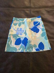 Ativa Women's Skirt Skort Green Floral Active Zip Size 4 Excellent Condition