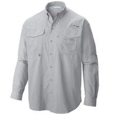 Columbia Men's Pfg Bahama II Long Sleeve Fishing Shirt UPF 30 Cool Gray Medium