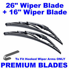 "Premium 26"" Inch & 16"" Inch Pair Front Windscreen Wiper Blades"