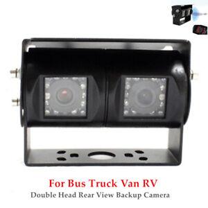 Rear View Backup Camera For Bus Truck Van RV CCD IR Night Vision Waterproof Set