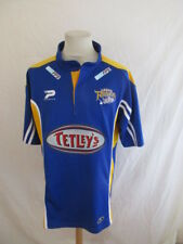 Rare maillot de rugby XIII vintage LEEDS RHINOS Bleu Taille XL