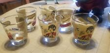 New listing Set Of 6 Mid Century low ball glasses 6 oz Japan theme Nagasaki, kobe, Tokyo