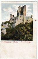 Ansichtskarte Gruss vom Rhein - Ruine Drachenfels - Postkarte Weltpostverein