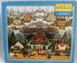 Charles Wysocki's Americana 1000 Puzzle 'Melodramas in the Mist' ~ 2004