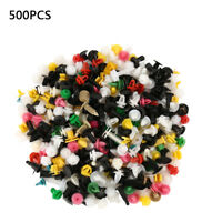 500 X Mixed Auto Car Fastener Clip Bumper Fender Trim Plastic Rivet Door Panel