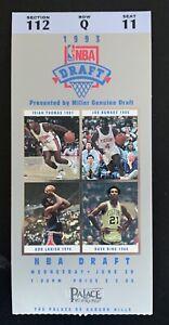1993 NBA Draft HOF Chris Webber Penny Hardaway Sam Cassell ticket stub