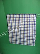 Pottery Barn Kids Hayden Small Plaid Bed Duvet Cover Full Queen FQ Blue Khaki