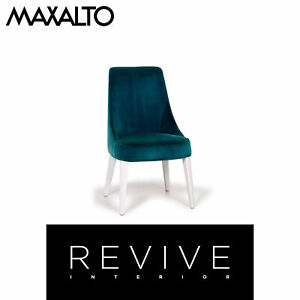 Maxalto By B&b Italia Velvet Chair Turquoise #14219
