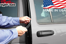 Edge Trim Door Guard (Carbon Fiber) Seal Strip Molding Protector for Chevy