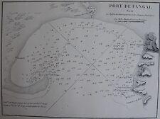 PORT DE FANGAL ,1862, GAUTTIER, PLANS PORTS RADES MER MEDITERRANEE