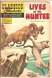 Classics Illustrated #157. Lives of the Hunted, HRN 156, by Gilberton Company.