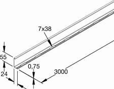 Rico Trennsteg 151W13-A Trennwand Stahl Trennsteg