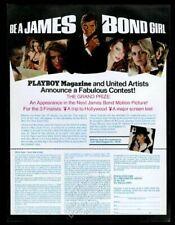 1979 007 James Bond Girl Playboy contest entry form vintage print ad