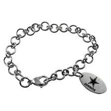 NFL * Dallas Cowboys * Stainless Steel Charm Bracelet Logo Dangle * Jewelry  New
