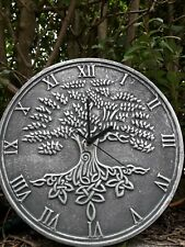SILVER EFFECT TREE OF LIFE CLOCK BY LISA PARKER - 30cm x 30cm