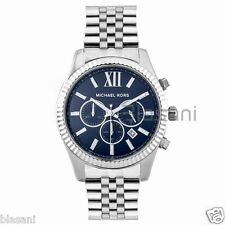 Michael Kors Original MK8280 Men's Lexington Stainless Steel Silver/Navy Watch