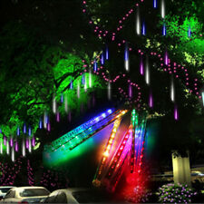 144/216 LED Lichterkette Schneefall Lichterregen Meteorschauer Weihnachten Deko
