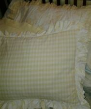 2 yellow & white Pillow Shams - Decorative, std & L, Bedroom, coordinating