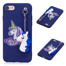 Unicorn Pendant Case Rubber Cover for iPhone & Samsung S8/9 Plus J3 J5 J7 2017