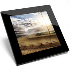 1 x Empty Race Track Glass Coaster-Kitchen Student Gift #2551