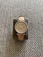 Fossil Womens Carlie Three-Hand Blush Leather Watch