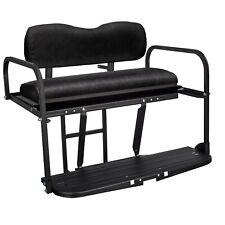 Gusto™ EZGO TXT Golf Cart Aluminum Rear Flip Seat - Black