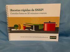 Recetas rapidas de SNAP!  English/Spanish bilingual recipes spiral bound, 210413