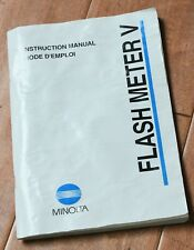 Minolta Flash Meter V Instruction Manual Complete Very Nice Book ORIGINAL Compl