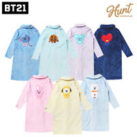 BTS BT21 Official Authentic Goods Winter Pajamas Flannel Night Dress By Hunt