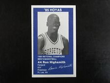 1985 Ron Highsmith Georgetown Hoyas Police Card Coca Cola 1984 National Champion