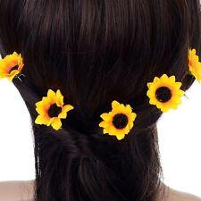 Yellow Sunflower Bridal Daisy Flower Clips Headband Hair Pins Headpiece