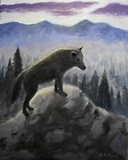 """""""WOLF""""   giclee print of original oil painting by Richard R. Nervig"""