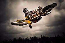 Free Style Motor Cross Bike Poster Wall Art | Sizes A4 - A0 | UK SELLER  E273