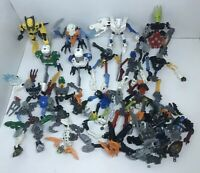 Lego Bionicle And Hero Factory Lot Partially Assembled Figures + Parts And Piece