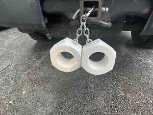 """Big Truck Nuts 5"""" Rear Bumper Tailgate Hitch Bull Nuts Plastic Balls Never Rust"""