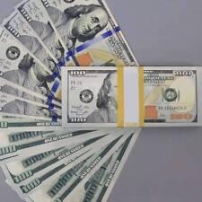 100 Dollar Cash Bills Banknote 1:1 USD Crafts Paper Fake Currency Money 100pcs
