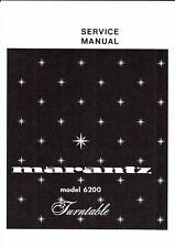 Marantz Service Manual für model 6200