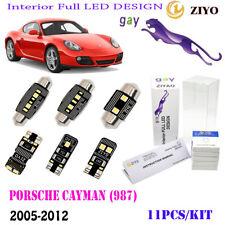 11Pcs LED Interior Light Kit Cool White 6K Fit For 2005-2012 Porsche Cayman(987)