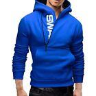 Mens Winter Pocket Hooded Coat Jacket Outwear Sweater Slim Fit Hoodie Jumper Top