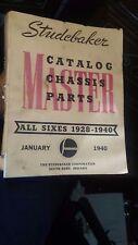 studebaker chassis vintage master parts shop manuel 1928 - 1940 130